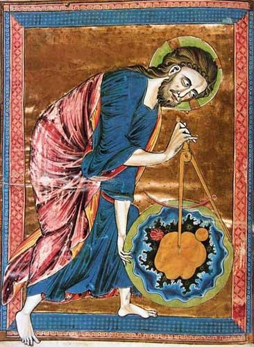 Бог-Творец. Миниатюра неизвестного художника (XIII в.)