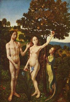 Грехопадение. Хуго ван дер Гус, 1480