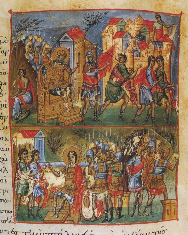 Иисус Навин принимает послов Гаваонитян. Слоновья кость, Х век.