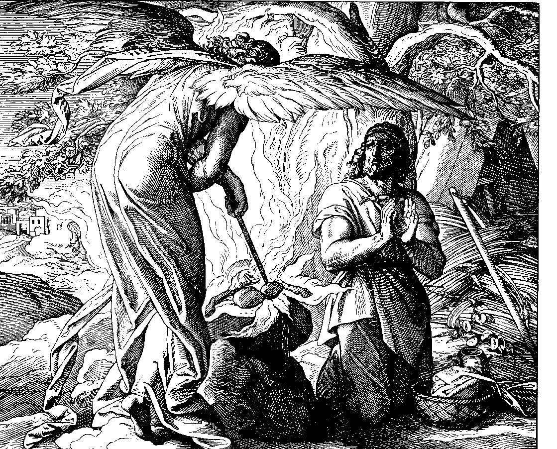Гидеон и ангел Господень, Юлиус Шнорр фон Карольсфельд  (1794-1872)