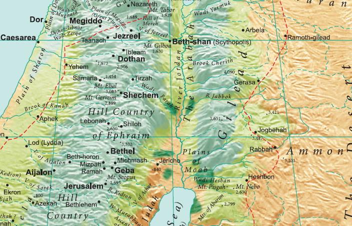 Гилеад – место в одноименной исторической области. Отождествляется с Хирбет Джальад на западе Иордании