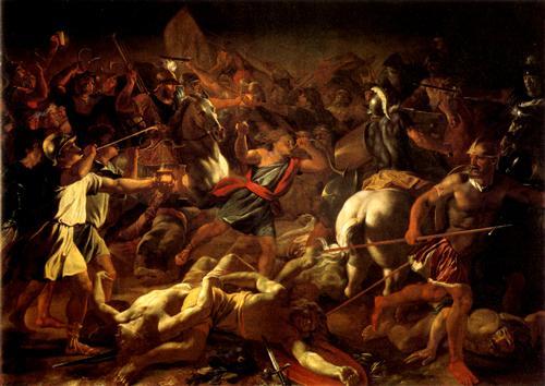 Битва Гидеона с мидианитянами. Николя Пуссен, 1625 г.