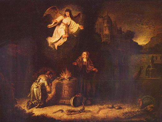Жертвоприношение Маноаха. Говерт Флинк (1615 - 1660)