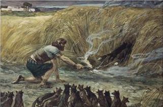 Самсон и лисицы. Джеймс Тиссо (1836-1902)