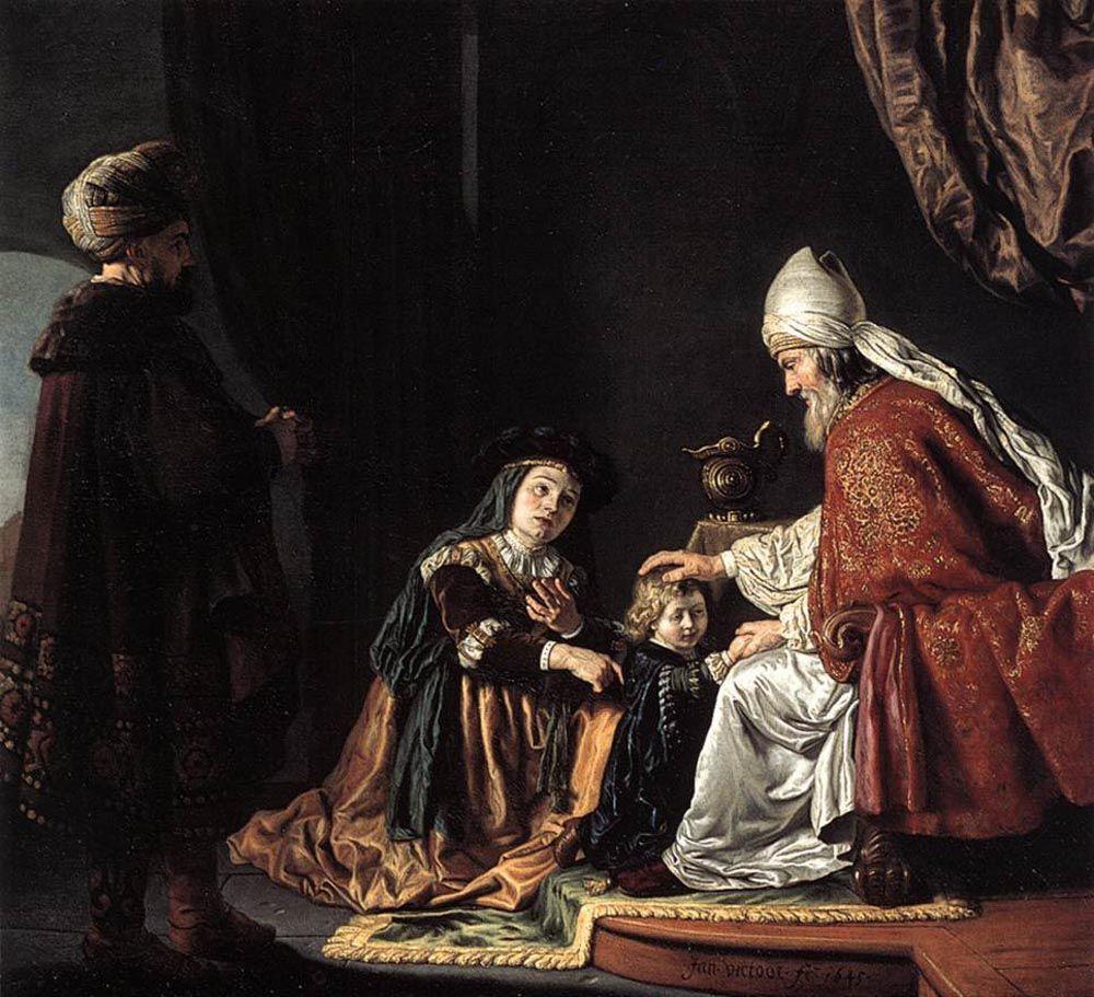 Анна отдает сына на службу Господу. Жан Викторс (1619-1676)