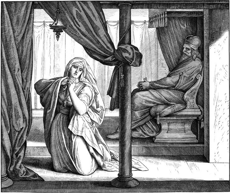 Молитва Анны. Юлиус фон карольсфельд, 1851