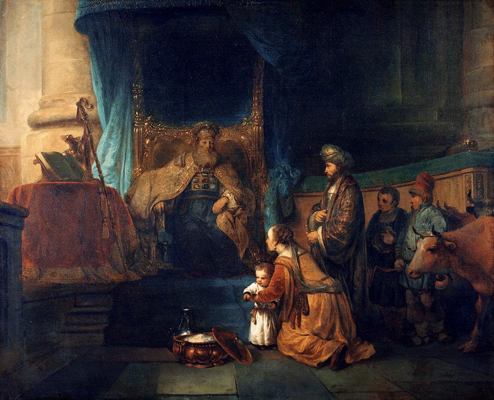 Анна отдает сына на службу Господу. Гербранд ван ден Экхоут, 1665