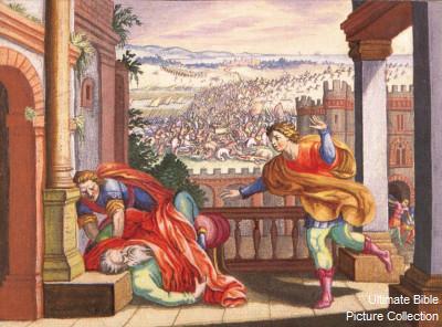 Смерть Эли. Иллюстрация к Библии: http://bibleencyclopedia.com/