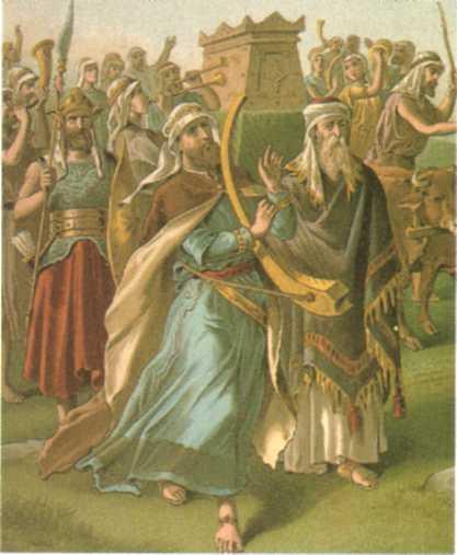 Хофни и Пинхас при Ковчеге Завета. Иллюстрация к Библии: http://bibleencyclopedia.com/