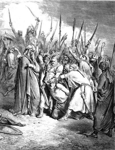 Гюстав Доре (1832 -1883).  Самуил убивает Агага, царя амалекитян.