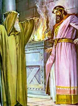Шемуэль упрекает Шауля (иллюстрация к Библии)