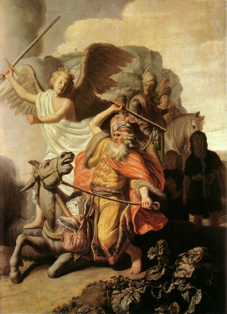 Рембрандт. Валаамова ослица, 1626