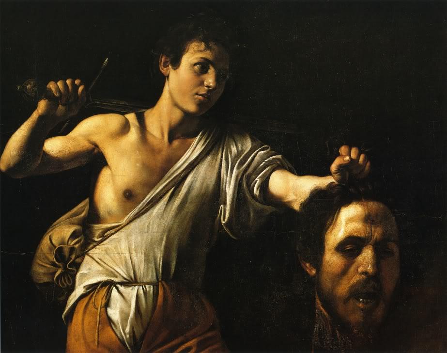 Давид с головой Голиафа. Микеланджело Меризи де Караваджо (1571-1610)