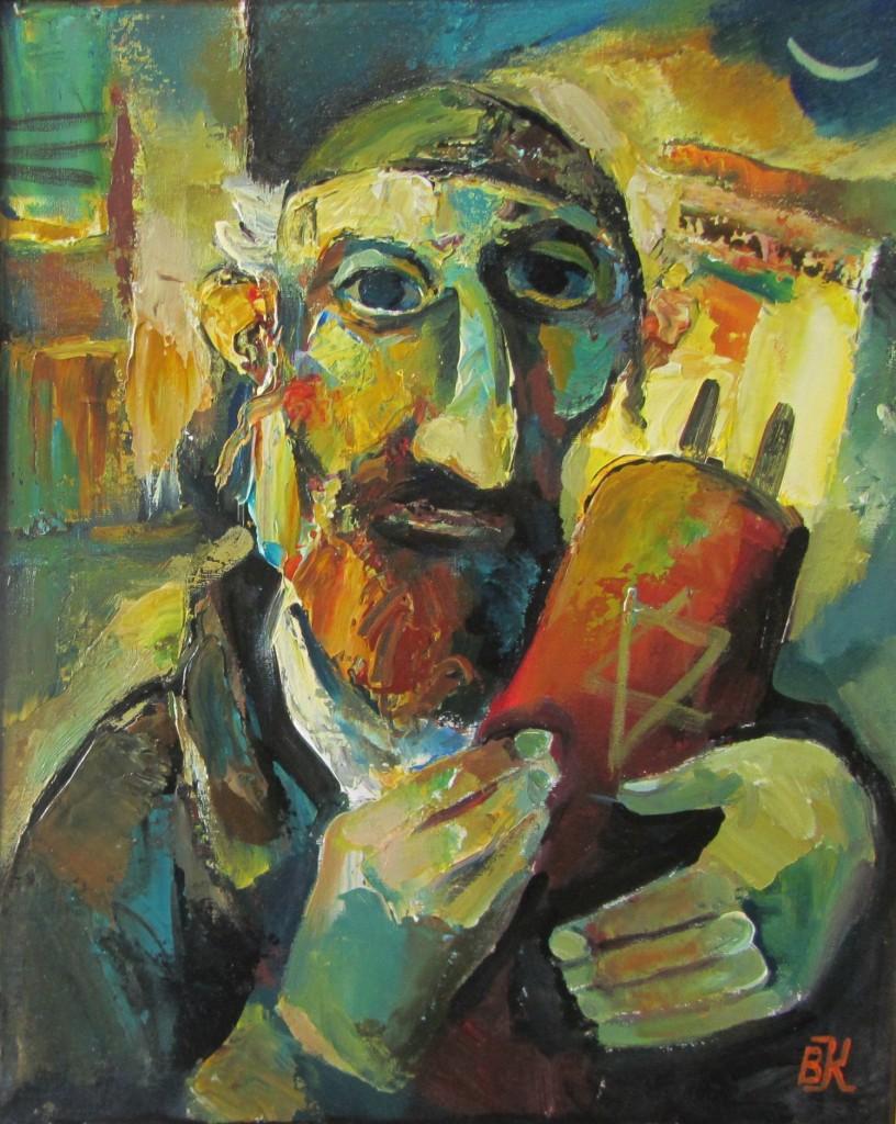 Вениамин Клецель - Илл. 9. Еврей с Торой (2014)