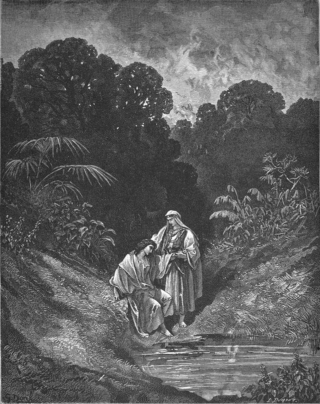 Давид и Йонатан. Гюстав Доре (1832-1883)