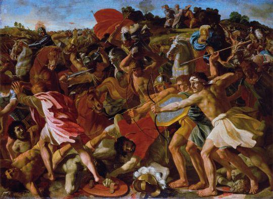 Н. Пуссен. Битва израильтян с амалекитянами (Победа Иисуса Навина), ок. 1626