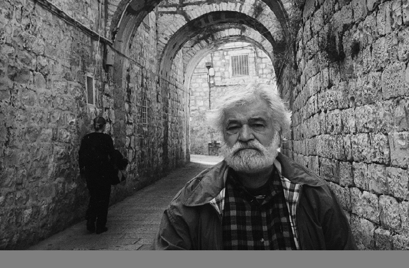 Д.П. Плавинский в Иерусалиме, 2000 г. Фото М.Р. Плавинской.