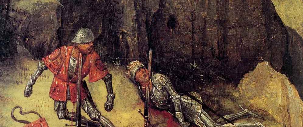 Питер Брейгель старший, Смерть Саула (фрагмент), 1564