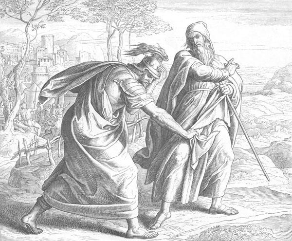 Отвержение Саула. Юлиус фон Карольсфельд, 19 в.