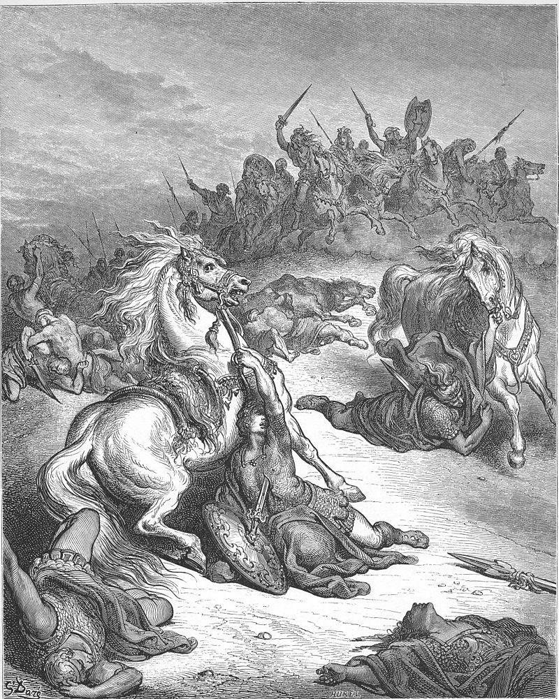 Смерть Сауля. Гюстав Доре, 1866
