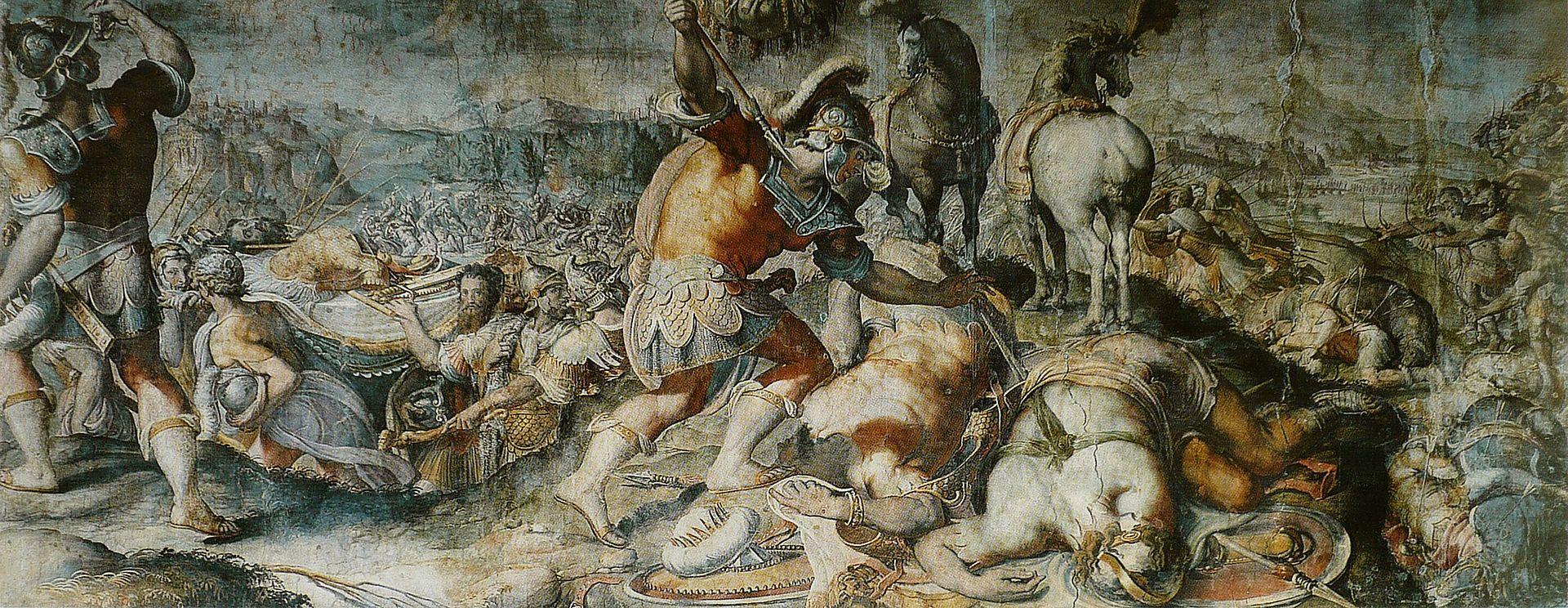 Смерть Саула, Франческо Салвиати, 1510 - 1563.