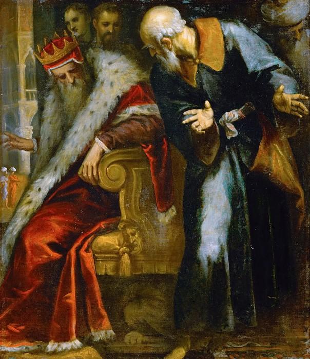 Натан увещевает Давида.  Джакомо Пальма Младший (1544-1628, Италия)