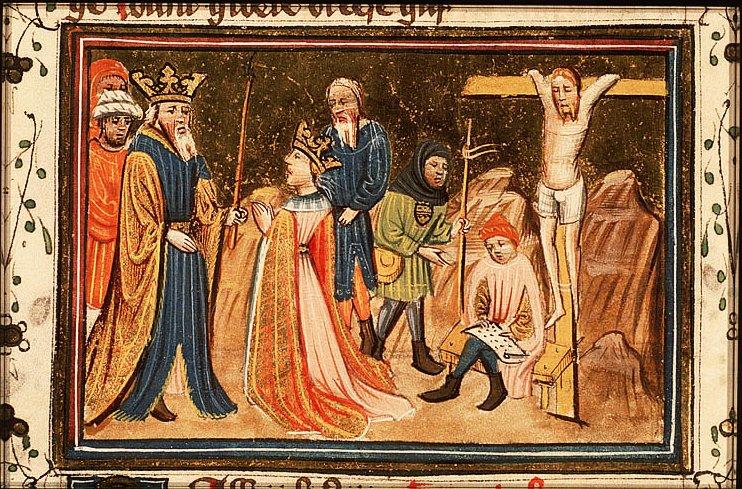 Аман, распятый на кресте. Azor masters, Утрехт, 15 в