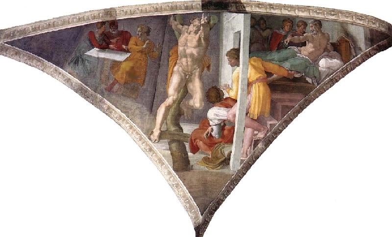 Микеланджело. Распятый Аман