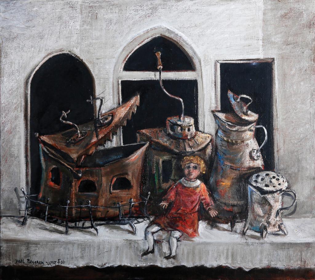 Илл. 4. Йосл Бергнер, Натюрморт с красной куклой