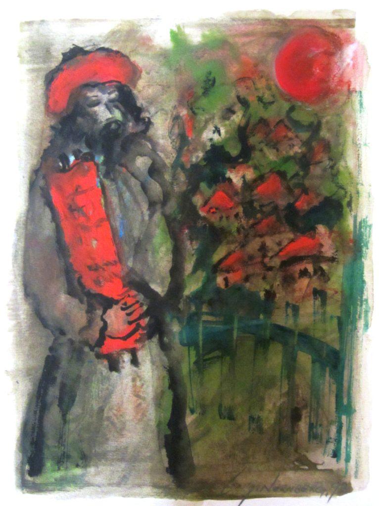Симха Норнберг. илл. 2. Simcha Nornberg (1917-2000) - Еврей со свитком Торы
