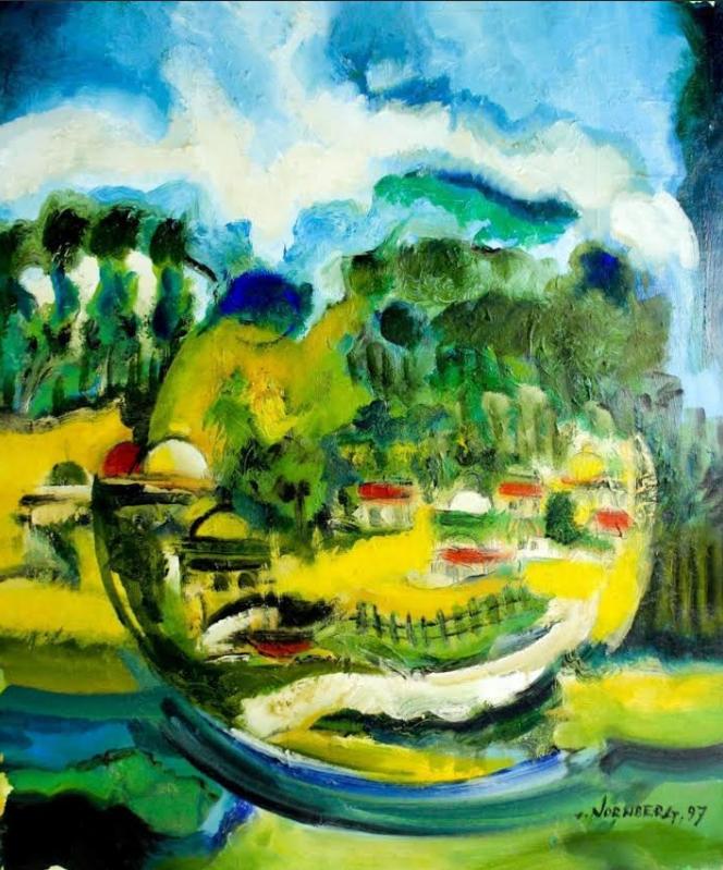 Симха Норнберг. илл. 5. Simcha Nornberg (1917-2000) - Israeli Landscape, 1997