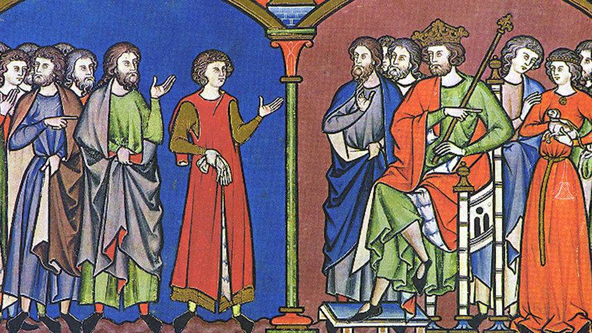 Иллюстрация из Библии Мациевского (13 в.)