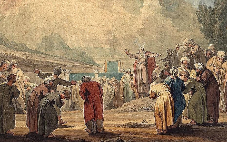 Якоб де Вит (1735 - 1737). Избрание семидесяти старейшин Моисеем