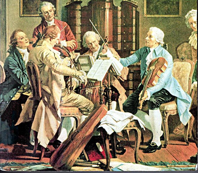 haydn-dirigeant-un-quatuor-anonyme-c-1790