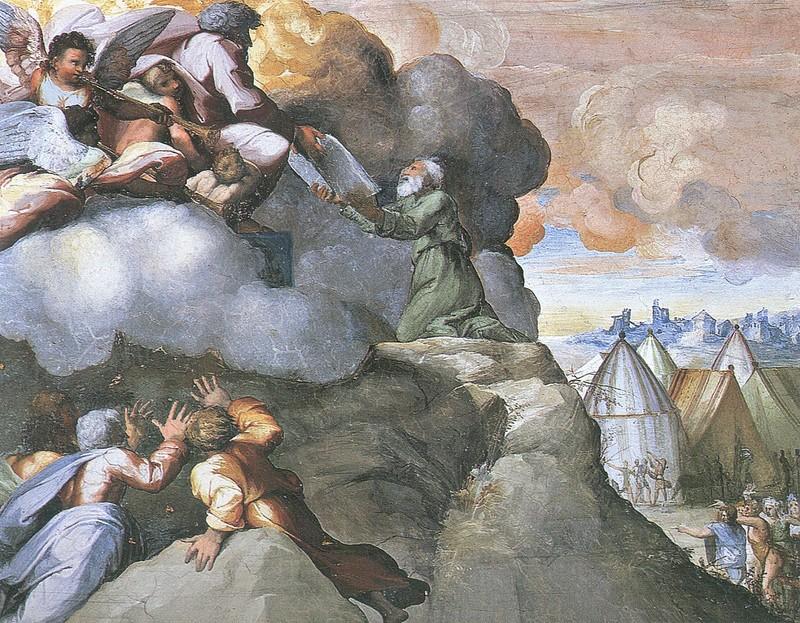 Рафаэль Санти (1483-1520). Моисей со скрижалями. Источник: http://www.beesona.ru/museums/raphael/12127/  © Beesona.ru
