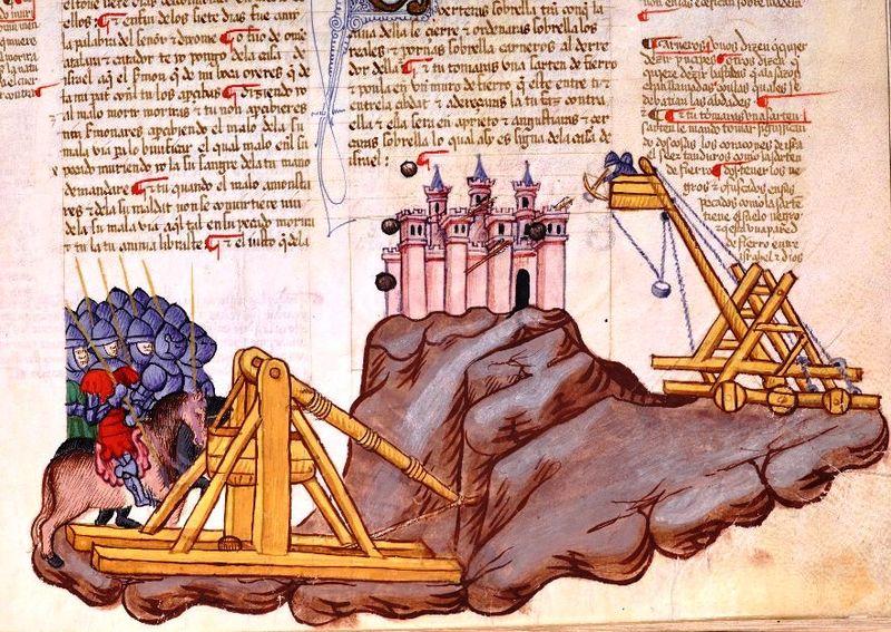 Иуда Маккавей штурмует Акру, Библия Альбы, 1430 г.