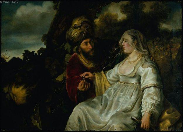 Фамарь и Иуда. Фердинанд Бол. 1644. (Музей изящных искусств, Бостон)