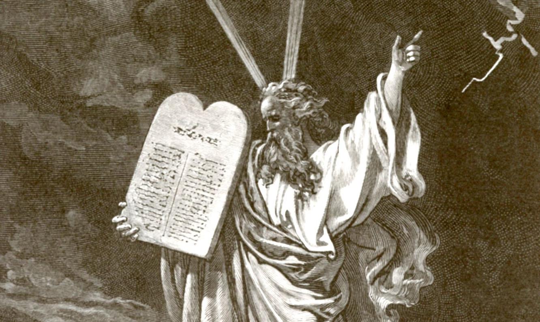 Поль Гюстав Доре. Моисей со скрижалями Завета (фрагмент)