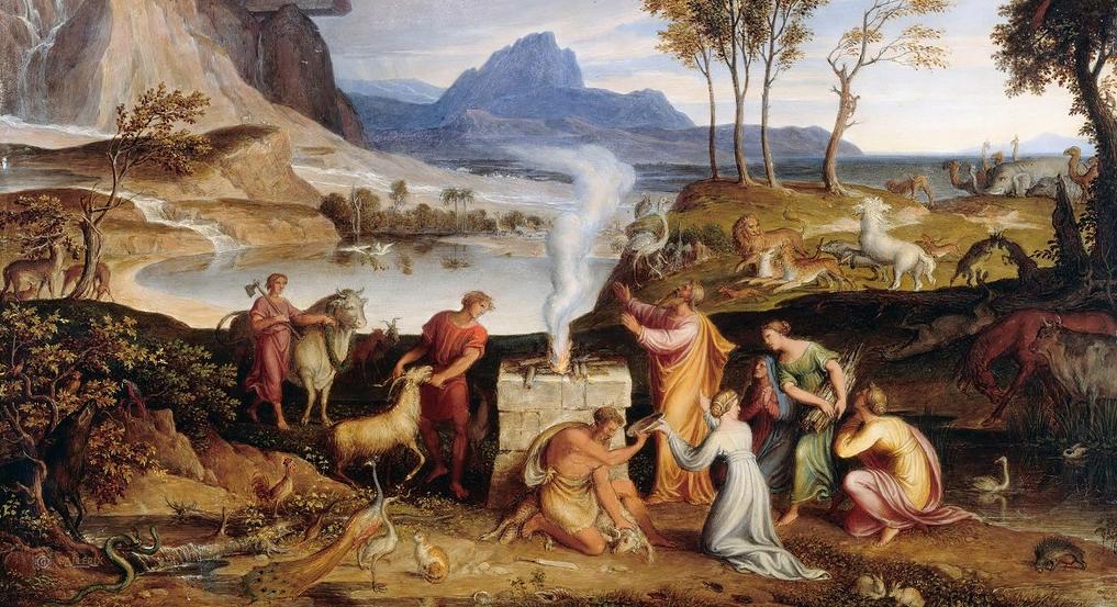 Йозеф Антон Кох, Жертвоприношение Ноаха (фрагмент)
