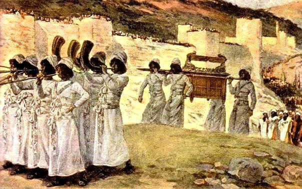 Левиты с Ковчегом Завета при взятии Иерихона. 'Господь отделил колено Леви, чтобы оно носило Ковчег Завета Господня' (Втор. 10:8)