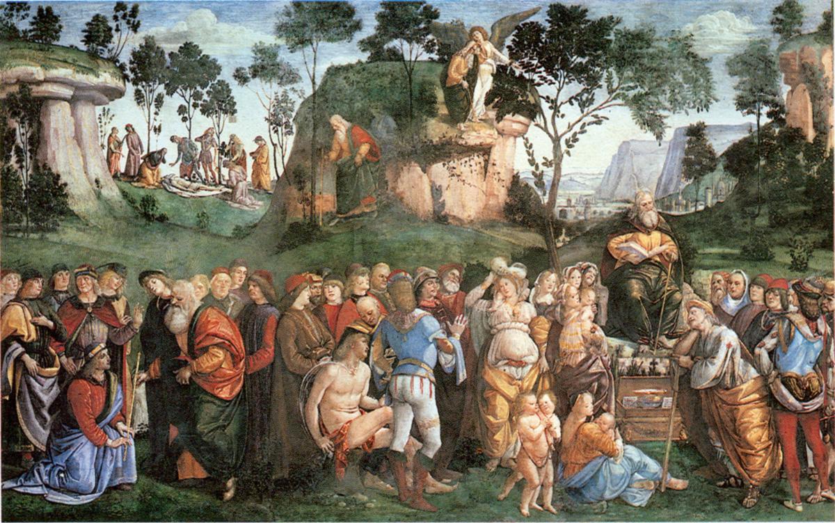 Последний завет Моисея. Лука Синьорелли, 1482