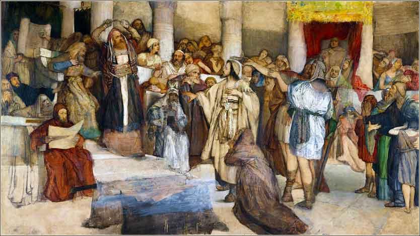 Иисус перед своими судьями. Мауриций Готтлиб, 1877 - 1879.  (Музей Израиля, Иерусалим)