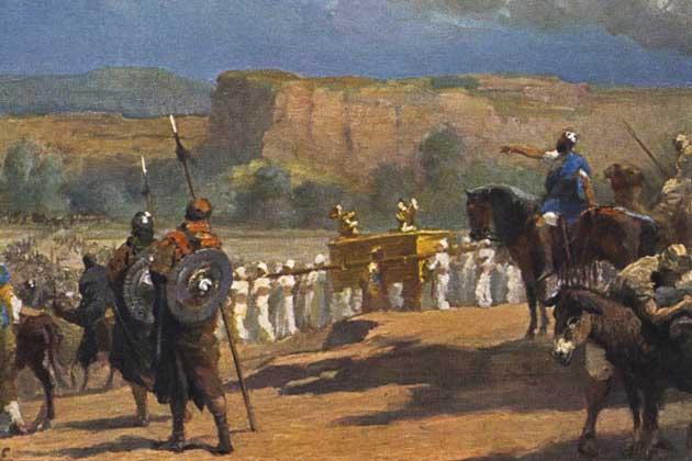 Еврейские воины и Ковчег Завета.