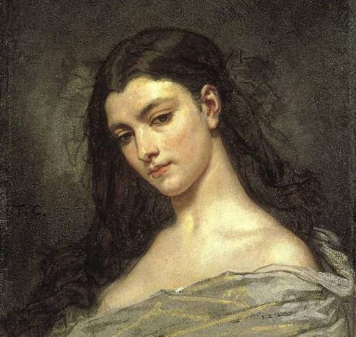 Голова женщины, Тома Кутюр (1815 - 1879)