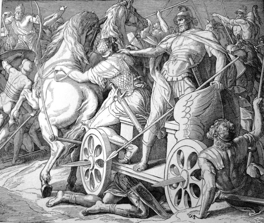 Смерть Ахава. Гравюра Юлиуса фон Карольсфельда