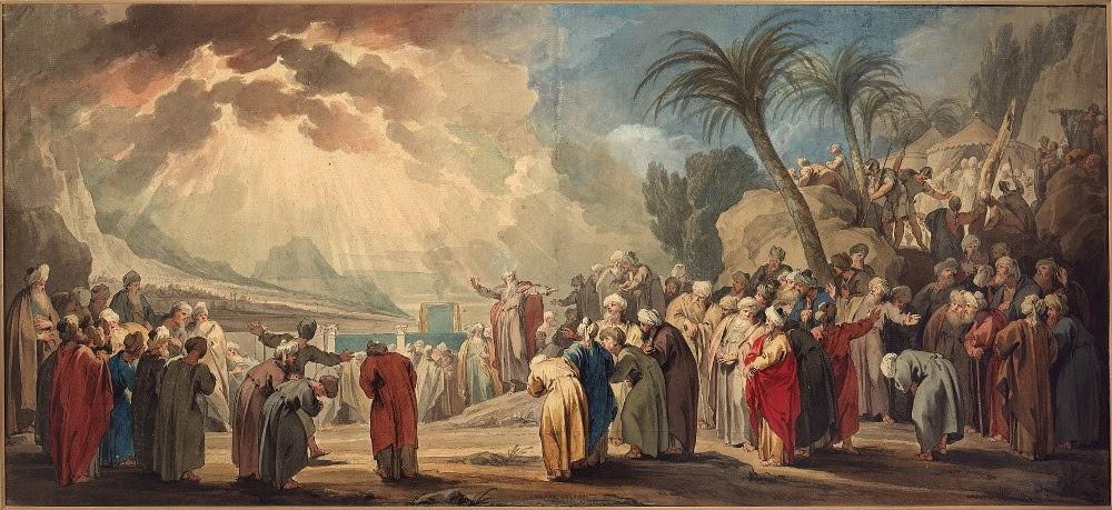 Моисей выбирает семьдесят старейшин. Якоб де Вит (1739)