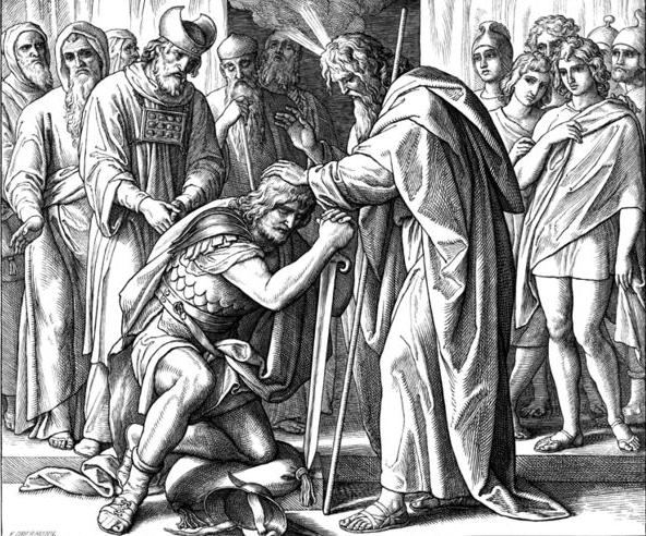Благословение Моисеем Иисуса Навина. Юлиус Шнорр фон Кэролсфельд, 1853 г.