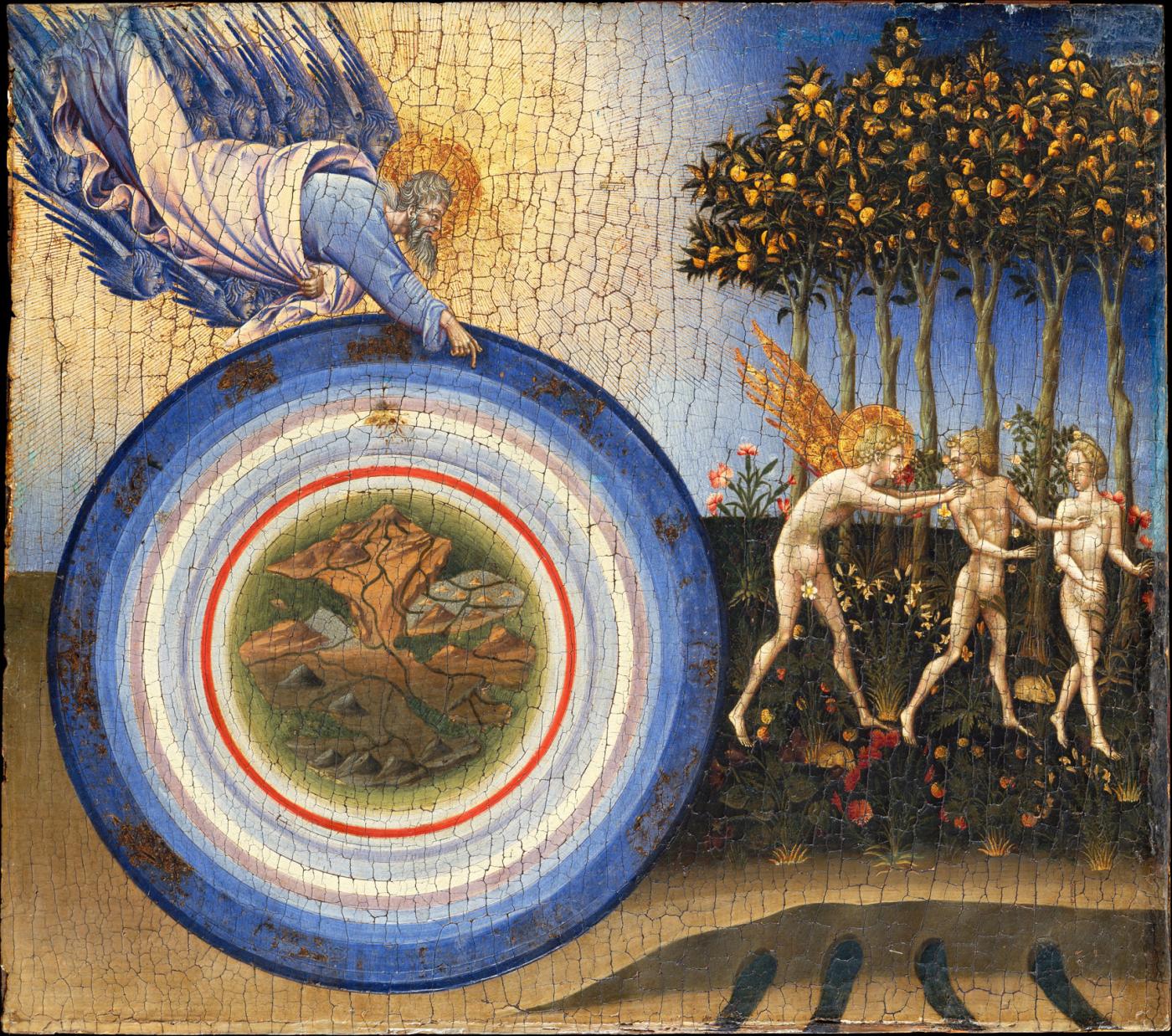 Джованни ди Паоло. Сотворение мира и изгнание из рая, 1445 г.