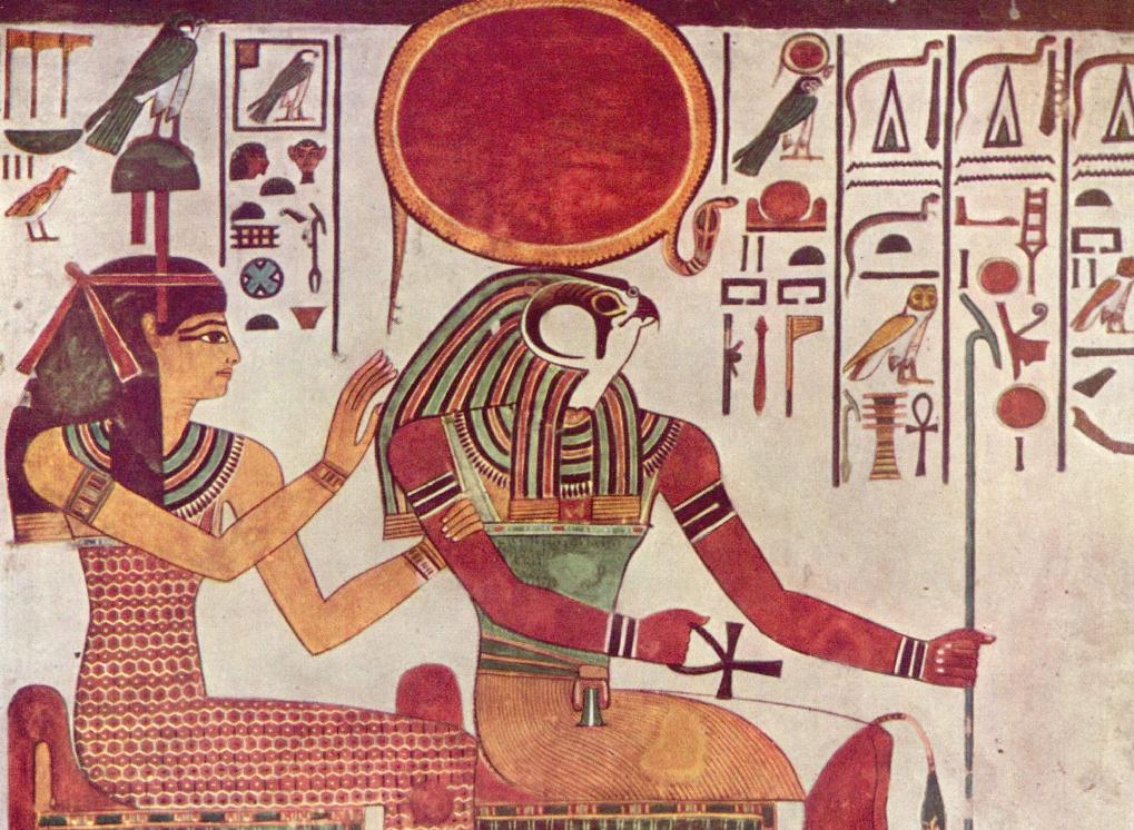 Изображение Аментет и Ра в гробнице царицы Нефертари (Википедия)
