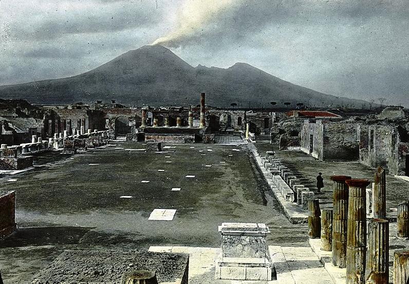 Помпеи, Италия - Форум и Везувий. Архив Бруклинского музея, Архивная коллекция Goodyear